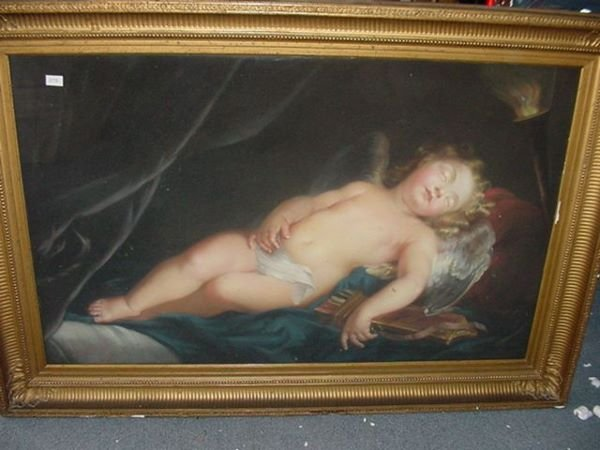 1645: FRENCH PAINTING,MADE INA DRY PASTEL PROCESS,SH