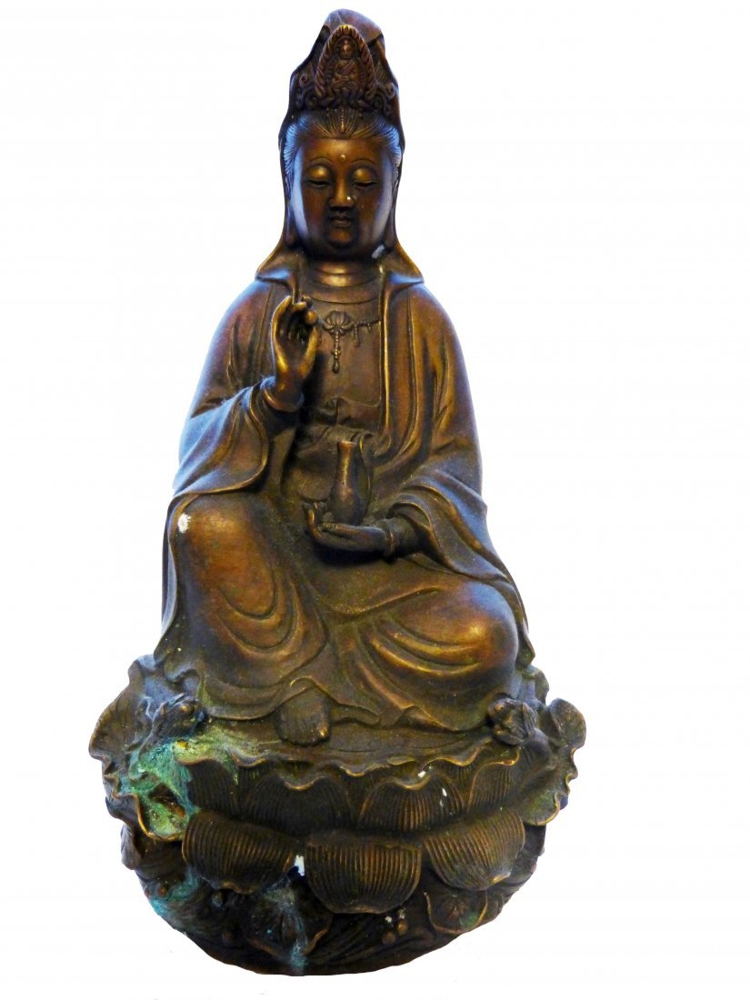 Bronze Guanyin, Late Qing Dynasty