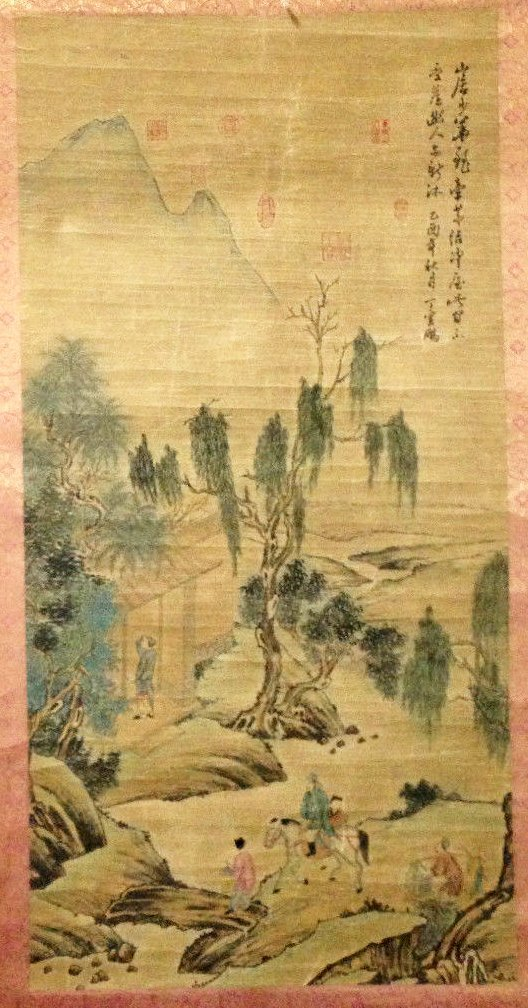 Antique Chinese Painting , Numerous Seals