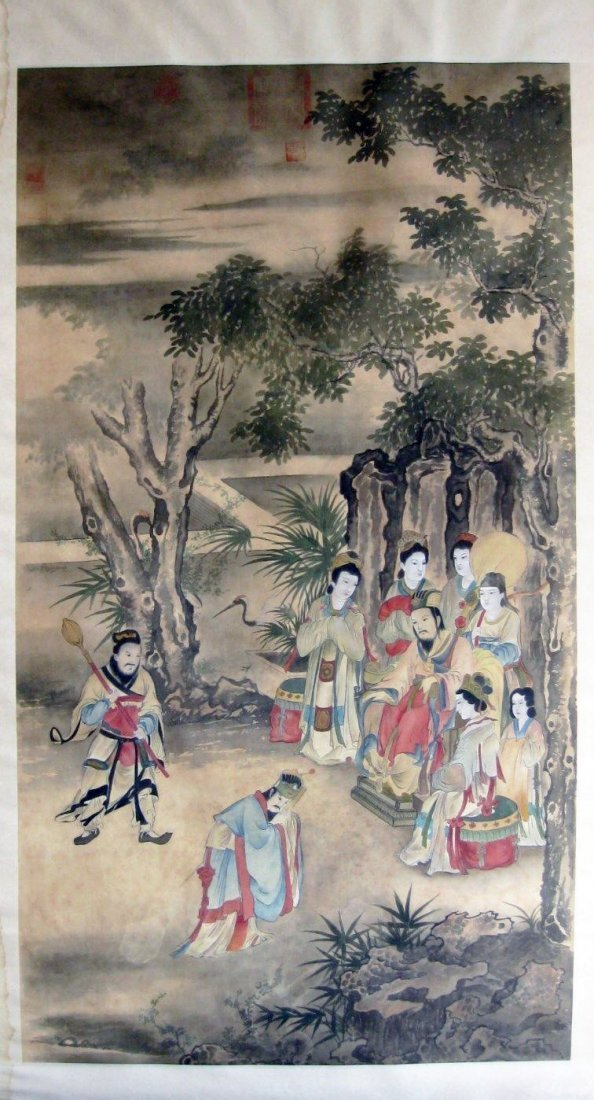 Qing Dynasty Painting, Signed with Multiple Seals
