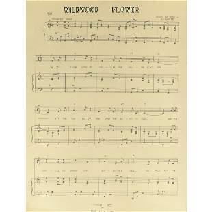 "POSTER OF ""WILDWOOD FLOWER"" SHEET MUSIC"