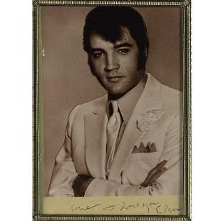 Elvis Presley Inscription to June Carter Cash