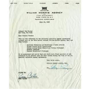GROUP OF June Carter Cash WILLIAM MORRIS 1950S CORR