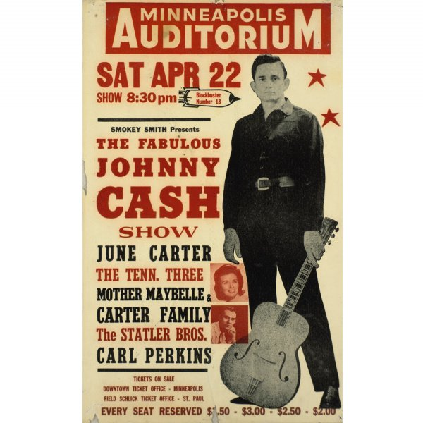 118: Original concert poster for the Fabulous Johnny Ca