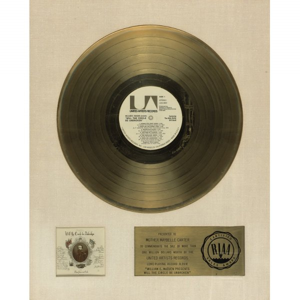 246: RIAA Gold Sales Award For the Album Will the Circl