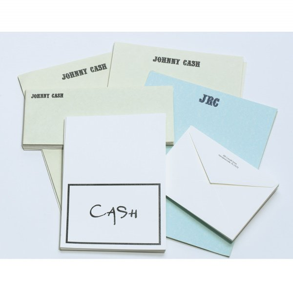 256: Assorted Group of Johnny Cash Stationery
