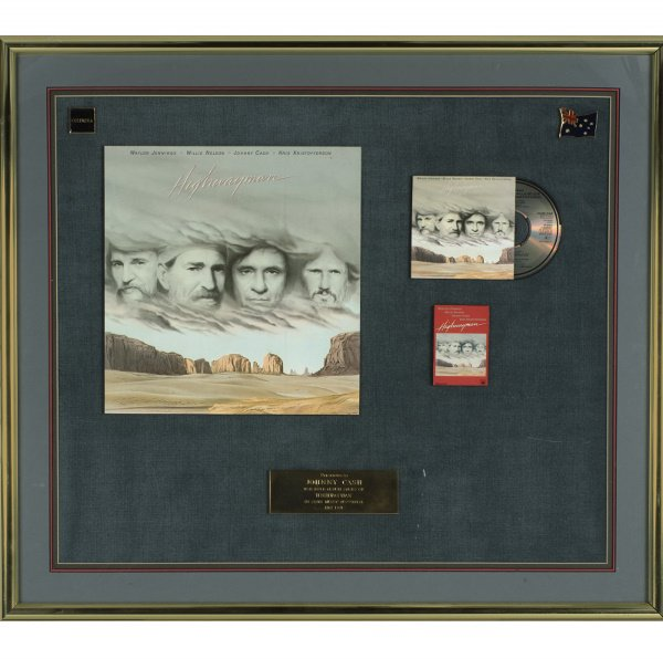 506: 1991 Gold Sales Award For The Album Highwayman Pre