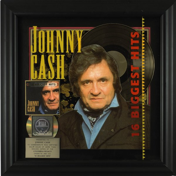 508: RIAA Gold Sales Award Presented To Johnny Cash For
