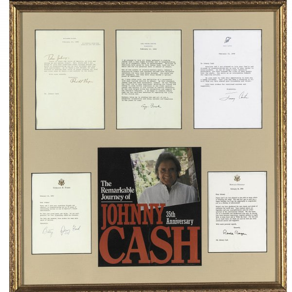 512: Group of Presidential Letters to Johnny Cash