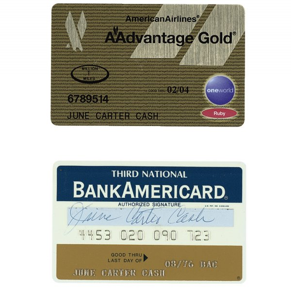 519: Group of Assorted June Carter Cash Credit Cards an