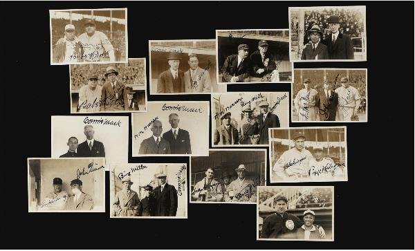 14: (14) Multi-Player Signed Snapshots of 1934 US Tour