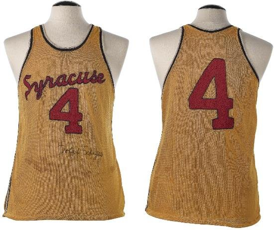 Dolph Schayes 1955 Syracuse Nationals Road Jersey
