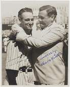 201: Rare Lou Gehrig and Babe Ruth Dual Signed Photo Fr