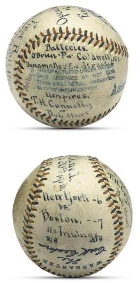 1: 1912 Fenway Park Grand Opening Day First Pitched Bal