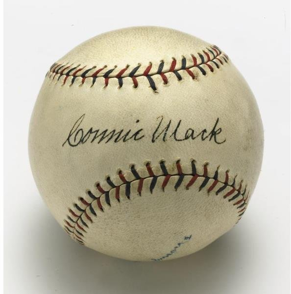 4: Connie Mack Autographed Baseball Property From The T