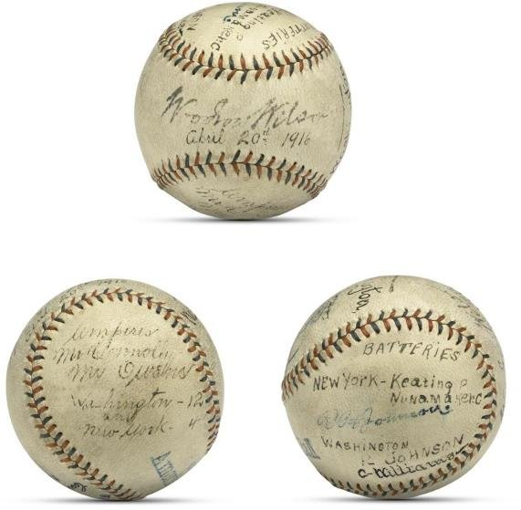 5: First Ball Pitched By President Woodrow Wilson, 1916
