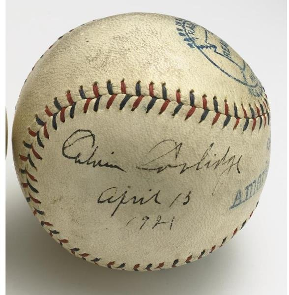 11: April 13, 1921 Calvin Coolidge Opening Day Signed B