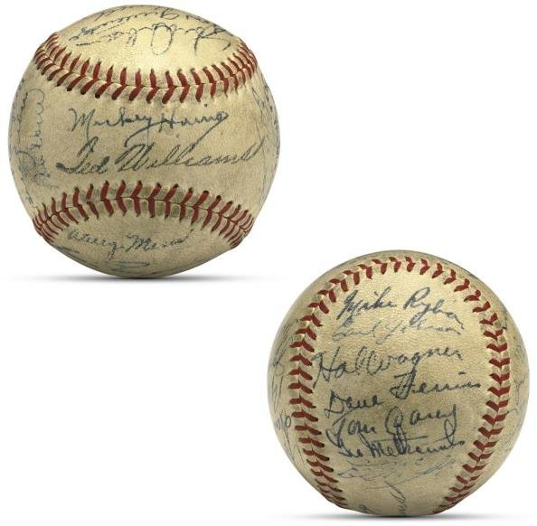15: 1946 Pennant Winning Red Sox Team Signed Baseball P