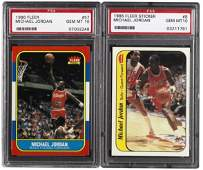157: 1986/87 Fleer Basketball Set with Stickers includi