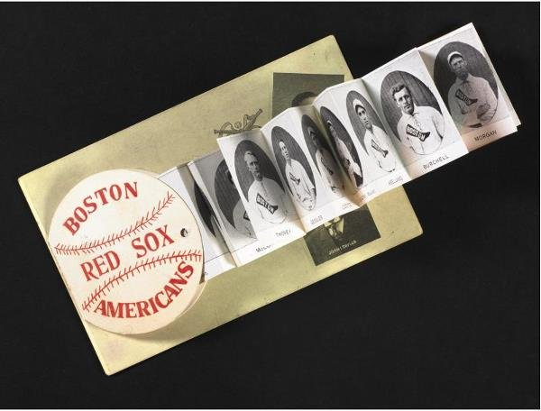 168: 1908 Boston Red Sox Fold-Out Postcard     When the