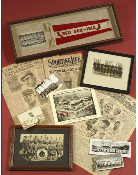 171: Collection of 1912 Red Sox Items Including Rare So