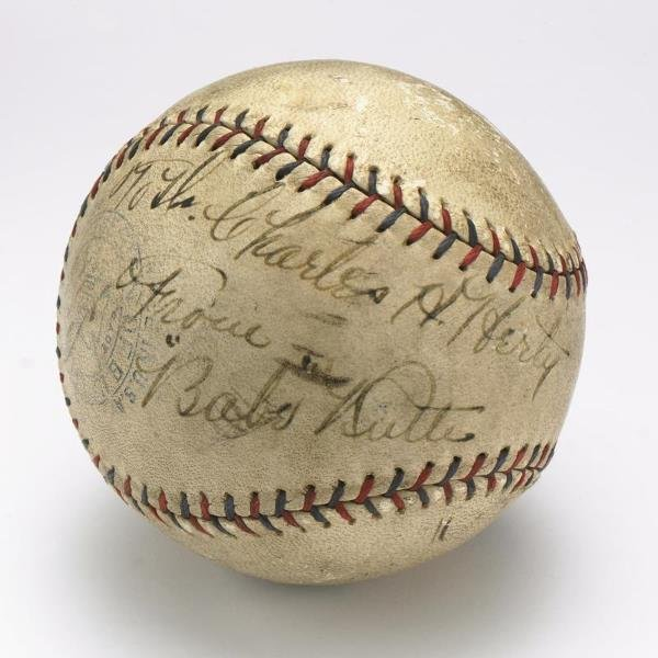 181: Babe Ruth Signed Baseball Inscribed To Dr. Charles
