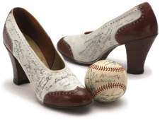 233: Pair of Women's Shoes Signed by 1941 Yankees & 194