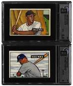 304: 1951 Bowman #253 Mickey Mantle and #305 Willie May