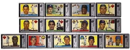 312: 1955 Topps Baseball Near Set 205/206 Property of t