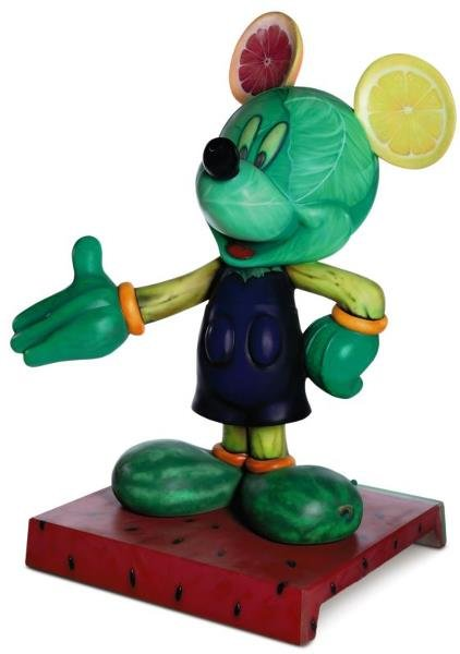 """4: """"Fruits of the Mouse"""" Mickey Statue: Andreas Deja,"""