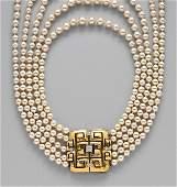 94: PLATINUM, 18K GOLD & DIAMOND CLASP, DAVID