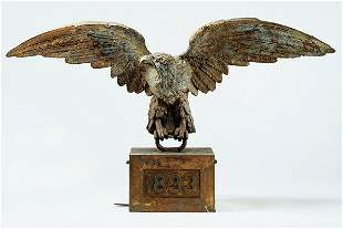 A Fine Molded and Gilded Zinc American Eagle Dated