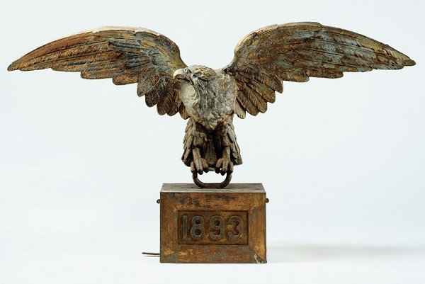 15: A Fine Molded and Gilded Zinc American Eagle Dated