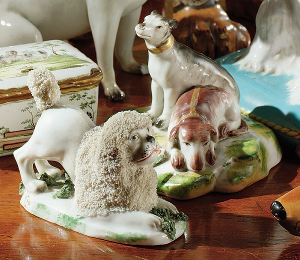 24: A CHELSEA PORCELAIN BUSTO OF WINTER AND A GROUP OF