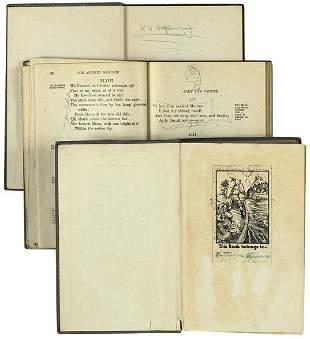 A Group of Three School Books
