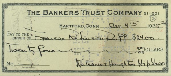 12: A Cancelled Check to Frances Robinson-Duff