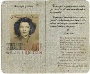 A 1938 Katharine Ludlow Passport and International