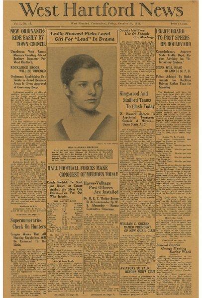 17: The West Hartford Newspaper, October 23, 1931