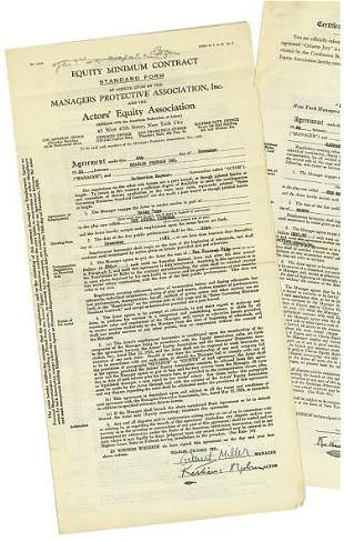 A Contract For The Animal Kingdom, 1931