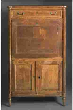 A DIRECTOIRE mahogany secretaire a abattant, LATE 1