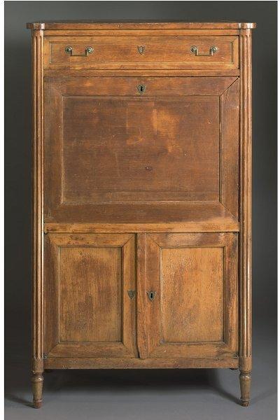 24: A DIRECTOIRE mahogany secretaire a abattant, LATE 1