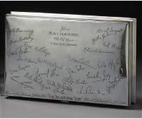 97: AN AMERICAN SILVER PRESENTATION CIGARETTE BOX, GORH