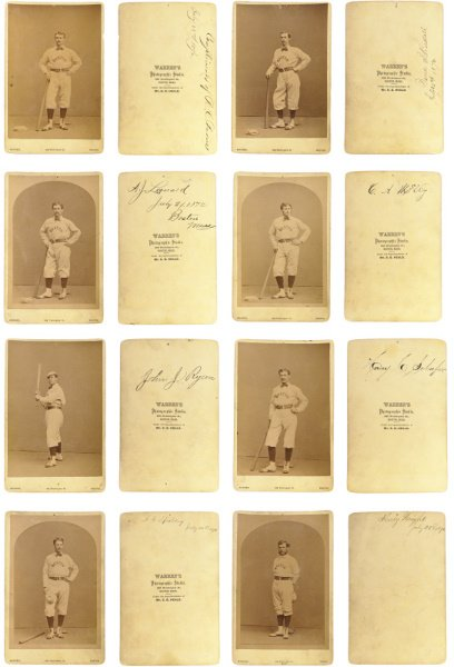 1: Autographed Group of (8) 1871/72 Boston Red Stocking