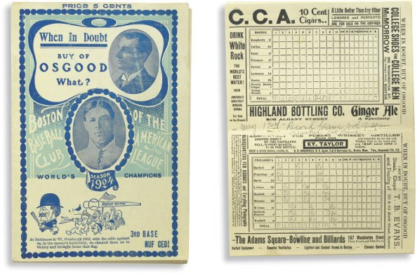 4: Scorecard From Cy Young's 1904 Perfect Game vs. Rube