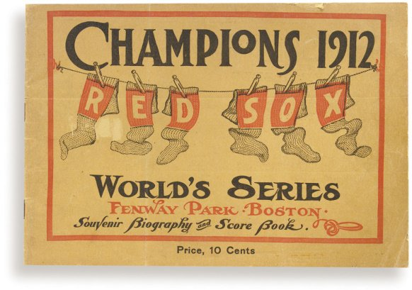 5: 1912 World Series Program at Boston's Newly Construc