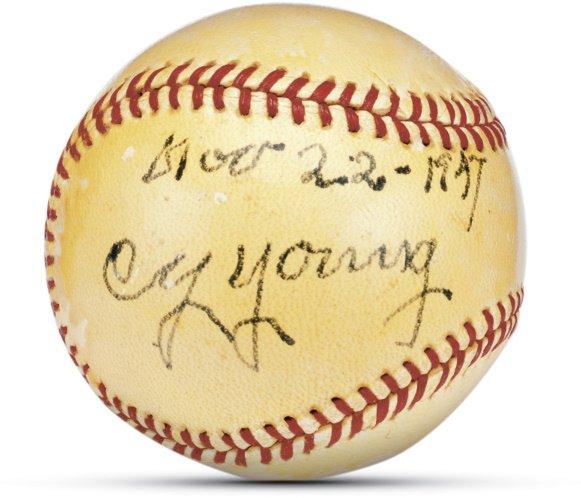 8: Cy Young Single Signed Baseball
