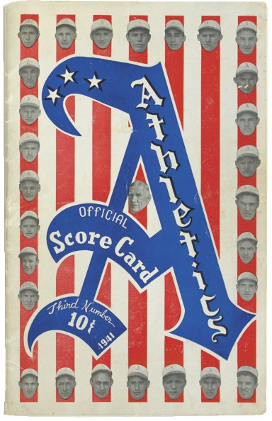 9: Ted Williams .406 Program From Last Game of 1941 Sea