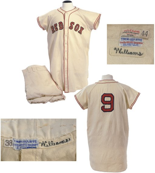 10: 1948 Ted Williams Boston Red Sox Home Uniform