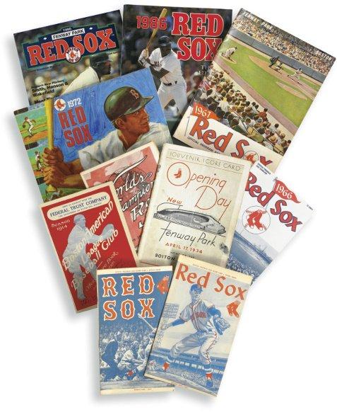 11: Comprehensive Run of 145 Boston Red Sox Programs/Sc