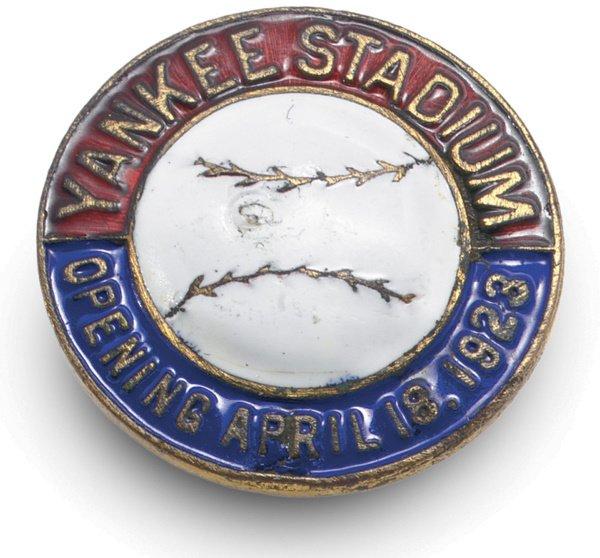 13: 1923 Yankee Stadium Opening Day Pin